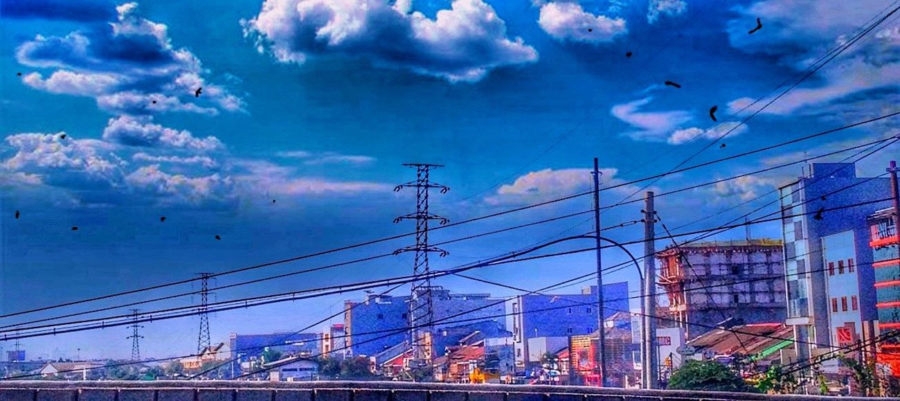Adapted To The City HDR Sky Cloud - Sky Cable Power Supply Power Line  Electricity  Connection Building Exterior Transportation Electricity Pylon Architecture Travel Destinations Outdoors Built Structure No People City Technology Day