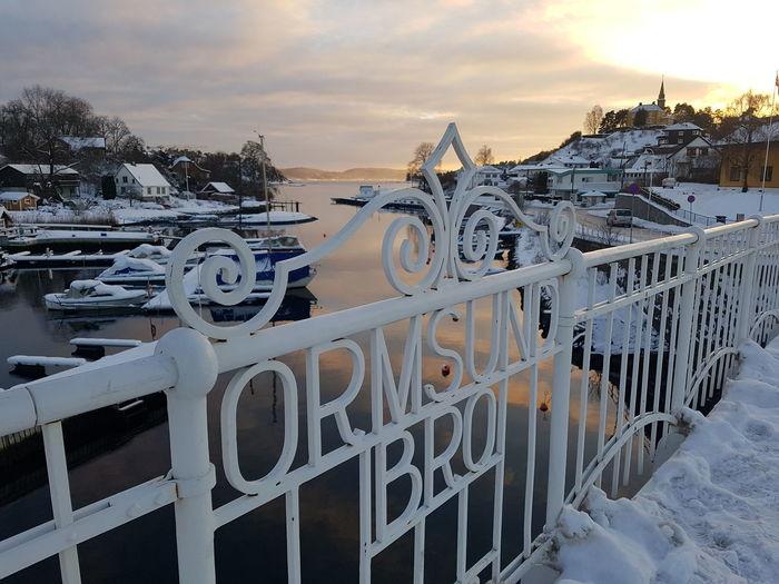 Oslo Winter Light ColdLove Skydrama Scandinavia Fjord Sea EyeEm Selects Beach Outdoors Sunset No People Bridge - Man Made Structure Sea Sky Water Day Nature Shades Of Winter