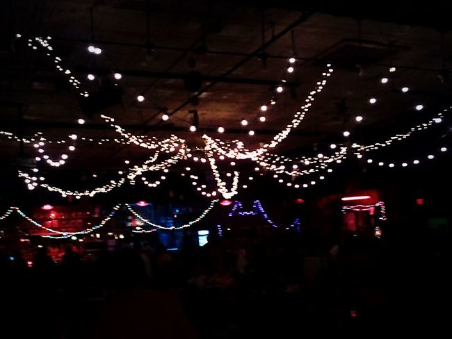 Hanging Lights decorating the main room. Indoors  Music Venue Cultural Places Hidden Gems  Pivotal Ideas The Magic Mission People And Places TakeoverContrast