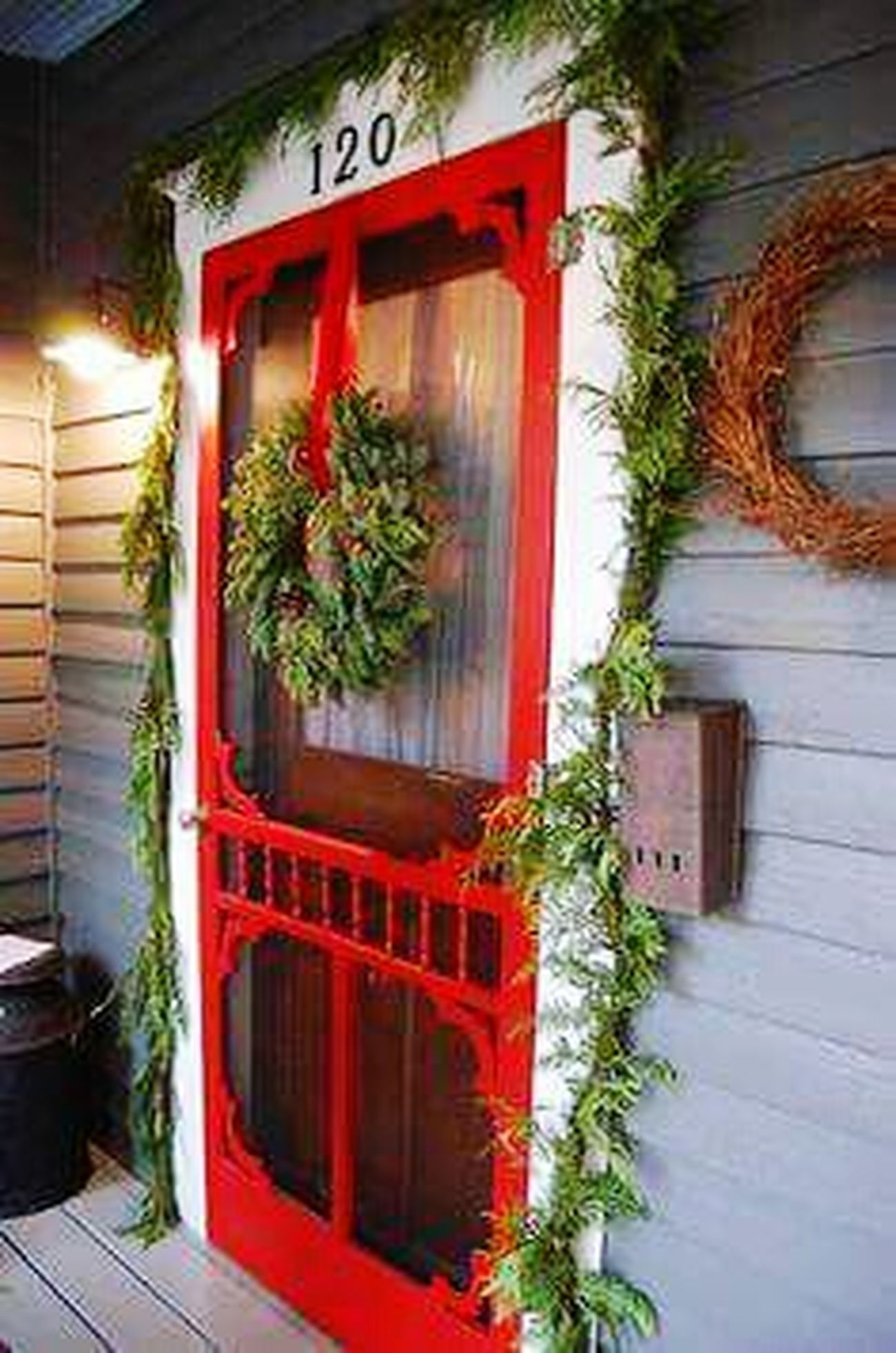 The Red Door Red Door Red Christmas Decorations Christmas Wreath Screen Door Mailbox Garland Showcase: December Its The Most Wonderful Time Of The Year  120 Country Christmas