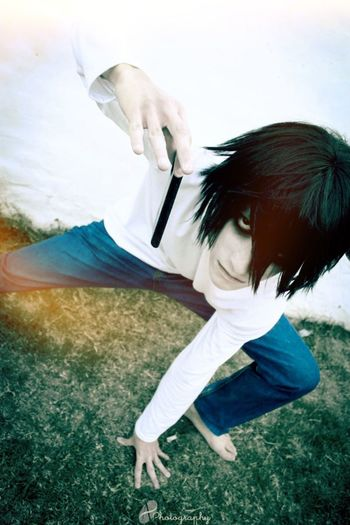 Justice will prevail L Lawliet Ryuzaki Death Note Cosplay