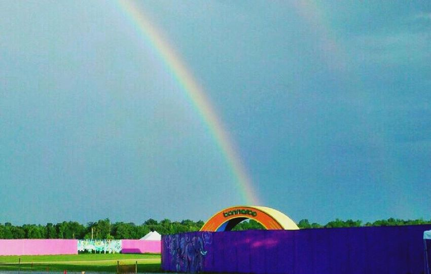 perfect rainbow.. calm before the storm:Bonnaroo Music Festival Rainbow Nature Bonnaroo Beautiful Photooftheday Musicfestival Festival Eyeemoninstagram