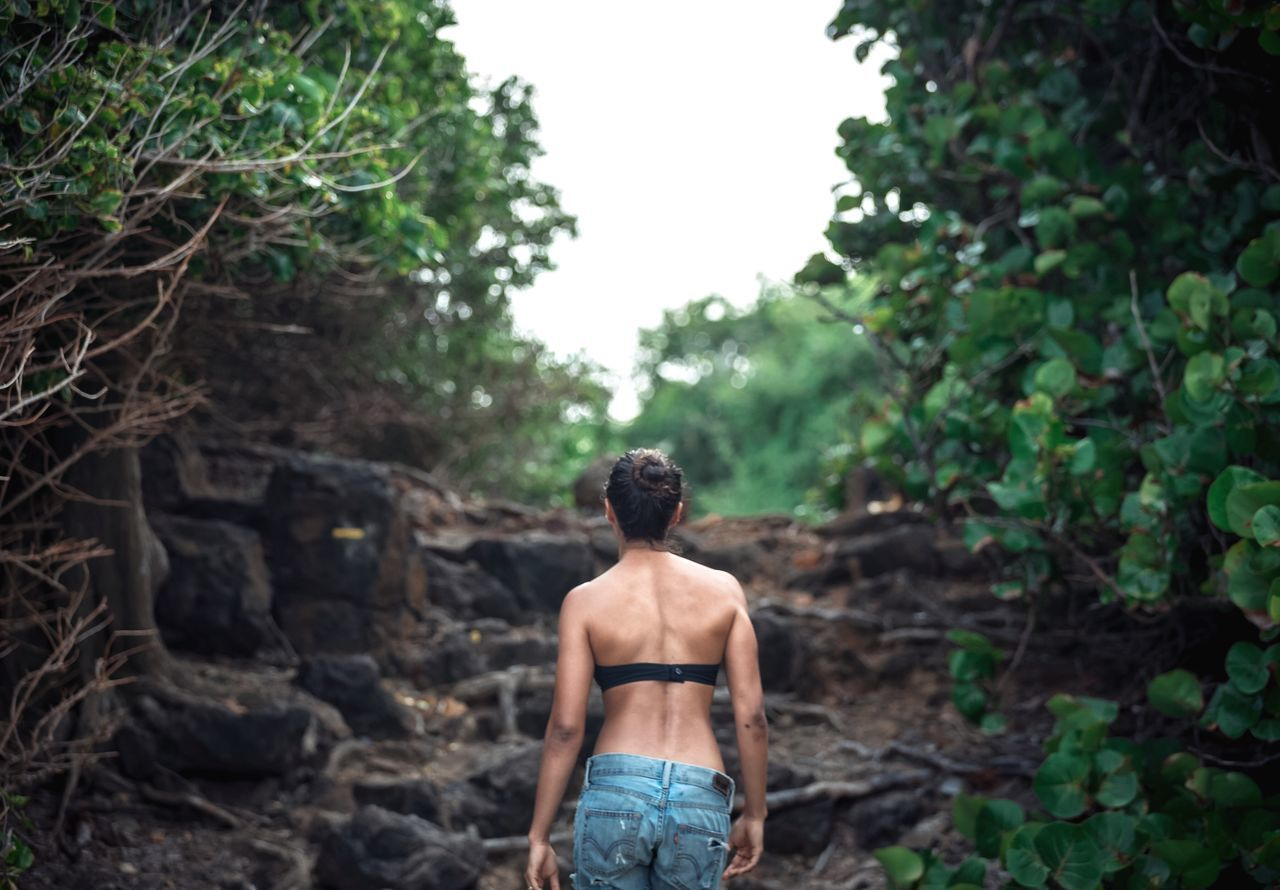 Adult Adults Only Day Forest Hi Human Back Martinique Nature Nature One Person Outdoors People Real People Rear View Shirtless Standing Tree Young Adult
