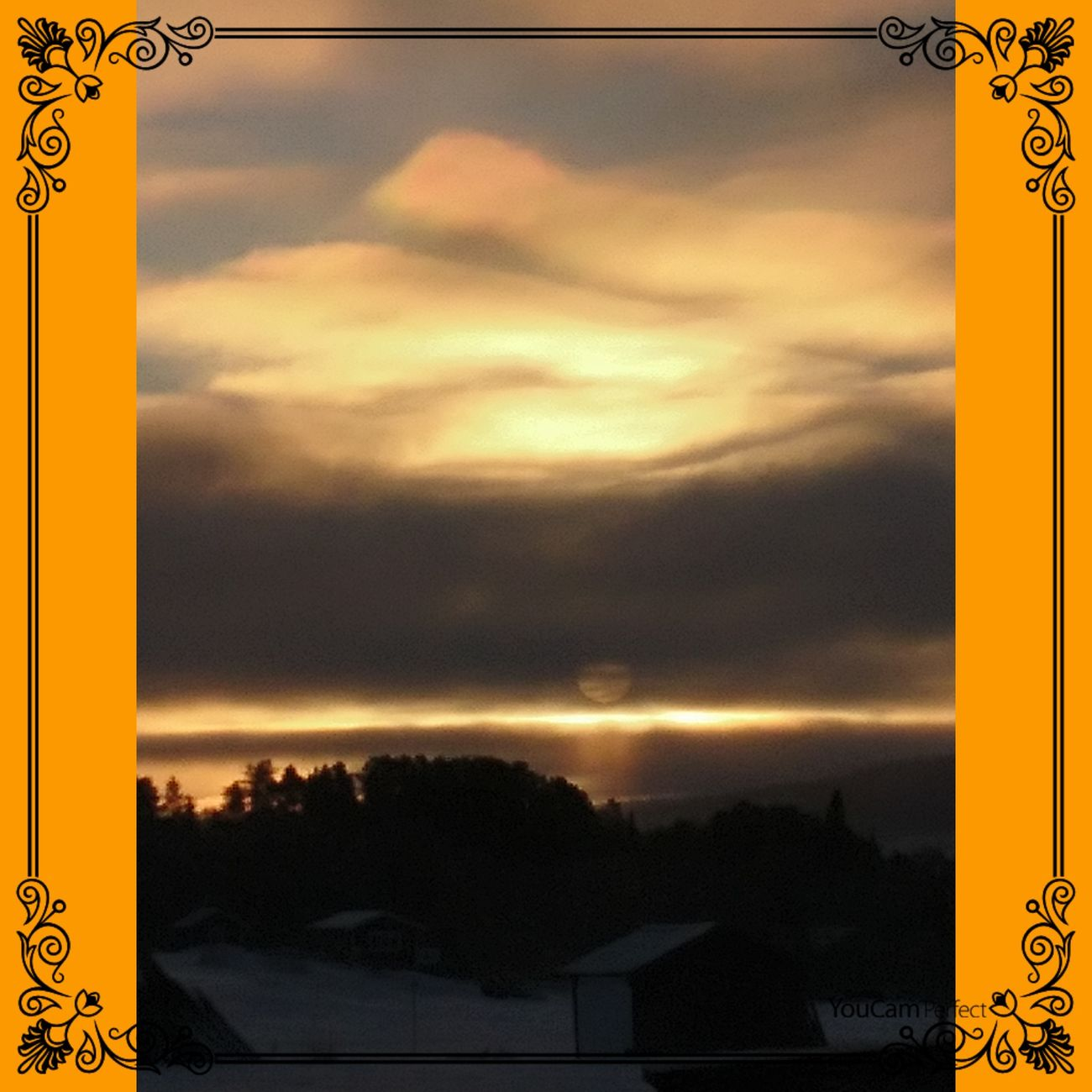 Morning Sky Sky Cloud - Sky Dramatic Sky Yellow Cold Temperature Winter Sunrise