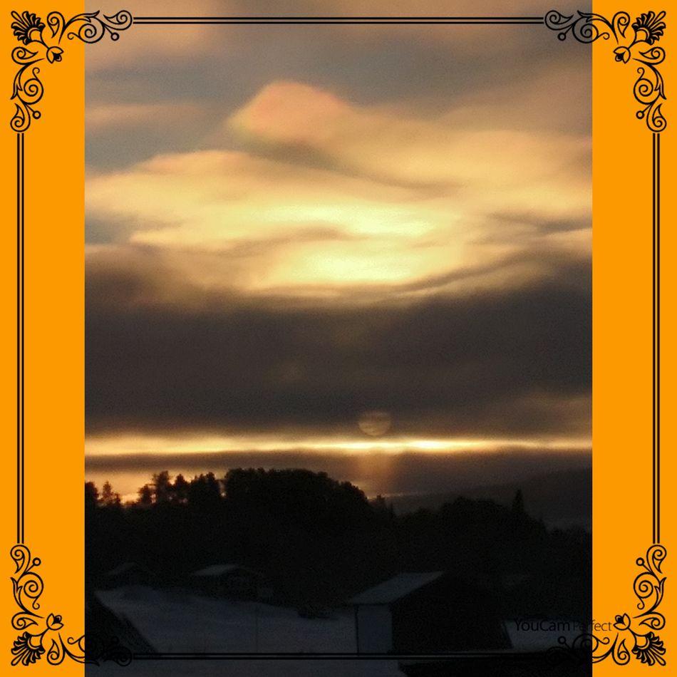 Morning Sky Sky Cloud - Sky Dramatic Sky Yellow Cold Temperature Winter Sunrise