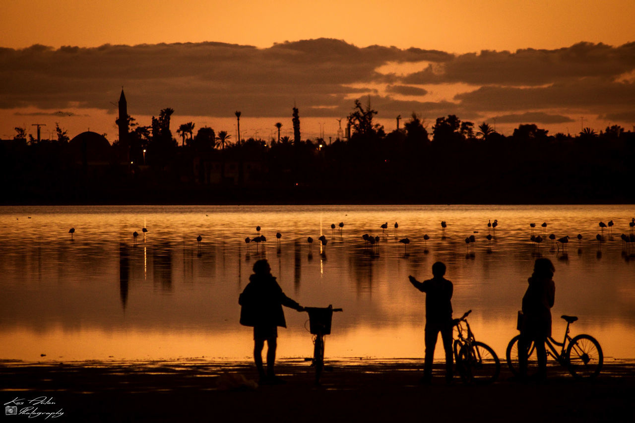 Birds EyeEm Best Shots Lake Outdoors People People Watching Reflection Silhouette Sunset Tranquility Water