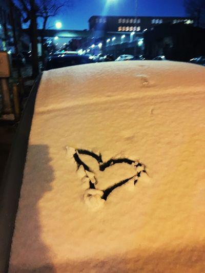 Heart Snow Car