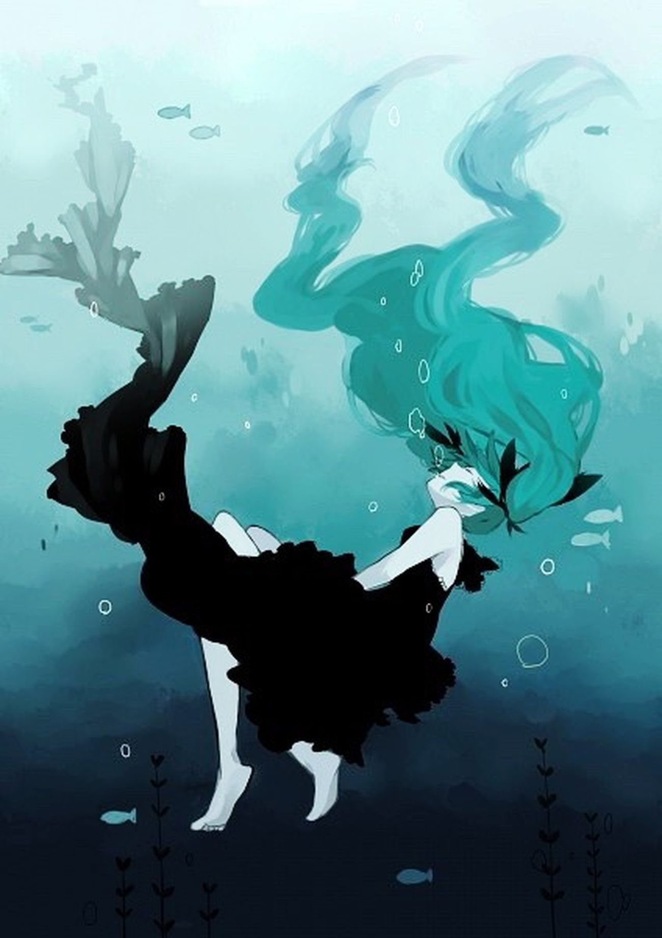 Deep sea girl Deep Sea Girl Anime Art аниме Море Meer Sea Ocian Vocaloid