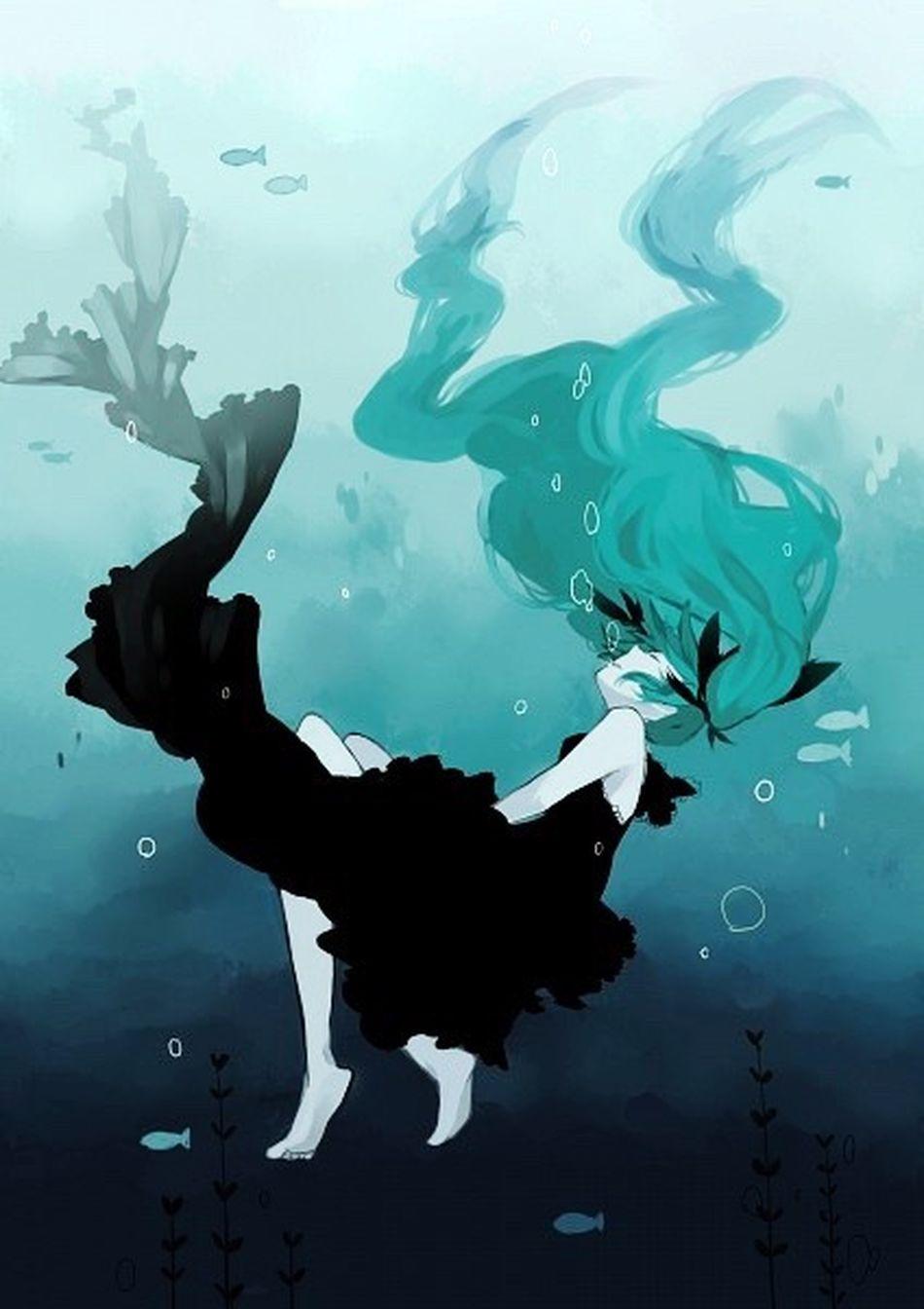 Deep sea girl Deep Sea Girl Anime Art аниме Море Meer Sea Ocian Vocaloid
