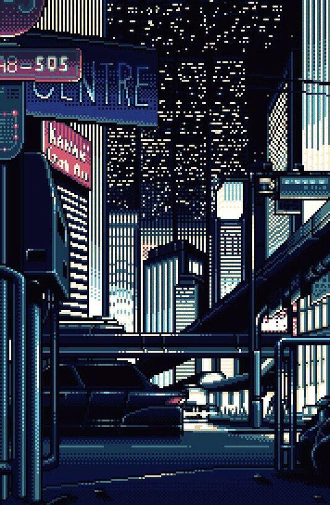 City City Life Pixelart Night Night Life Night Lights