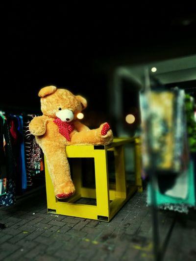 Giant teddy bear Toy Toy Animal Night Outdoor