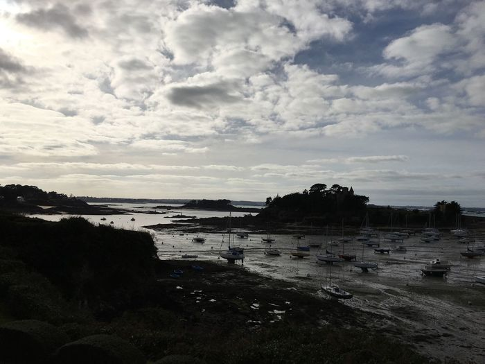Low Tide in wonderful Dinard Brittany France By Cathy Badi