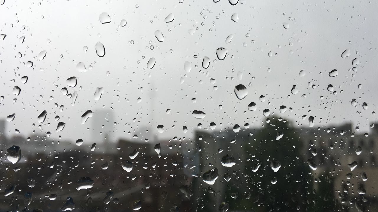 Backgrounds Close-up Day Drop Full Frame Glass - Material Indoors  Nature No People Rain RainDrop Rainy Season Sky Water Weather Wet Window
