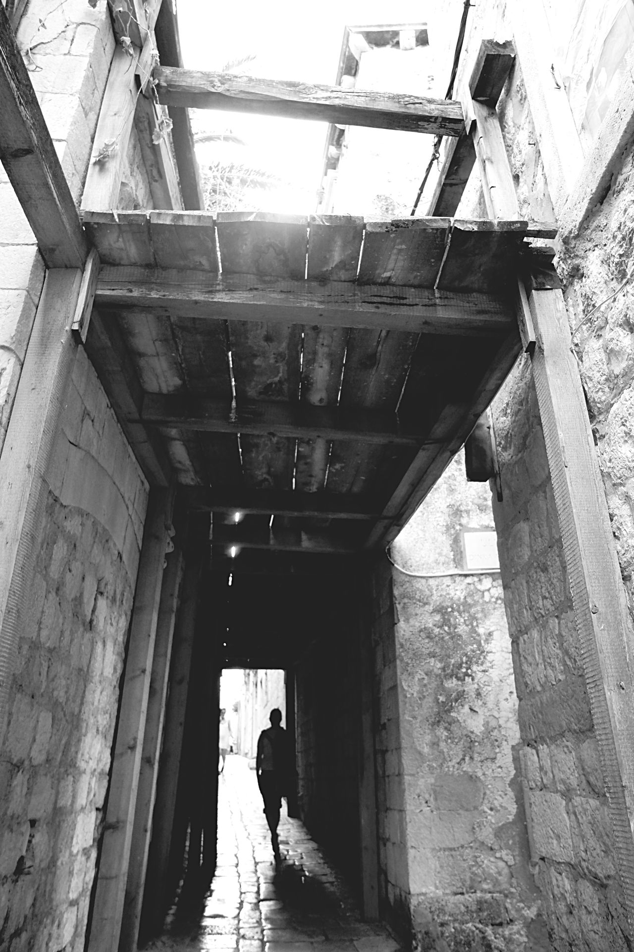 Some Scaffolding in an Alley in Old Town, Dubrovnik. Shades Of Grey Bw_friday_challenge B&w Photography Streetphoto_bw Streetphotography B&w Street Photography
