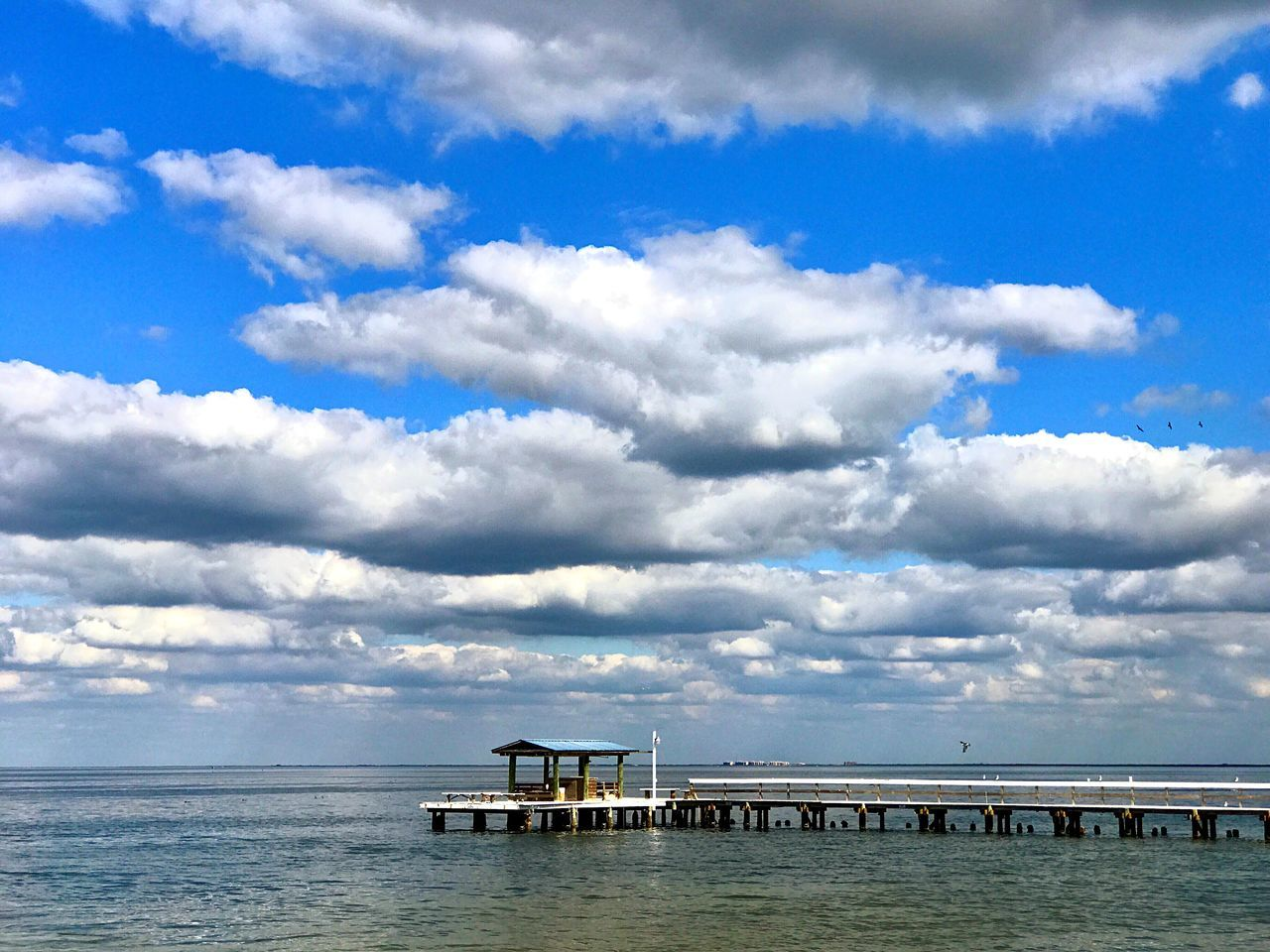 Sky Cloud - Sky Nature Beauty In Nature Water Blue Sea Ocean Pier Florida Cloud Clouds Day Outdoors Gulf Of Mexico Cumulus Cloud Holiday Vacations Vacation