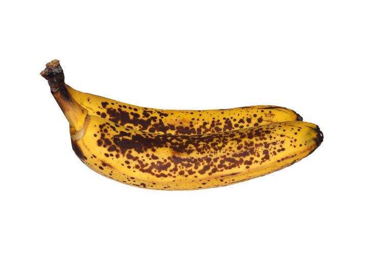 Banana Benefit Perspectives On Nature Banana Black Black Spot Banana Peel Isolated On White Background. This Has Clipping Path Close-up Day Eat Food Fresh Fruit Fruits Healthy Fruit No People Single Object Spot Studio Shot White Background Yellow