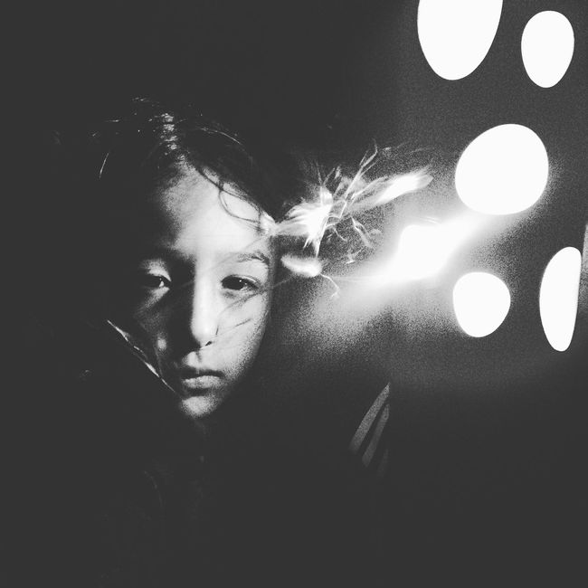 La Luz Illuminated Night Innocence Sparkler Lens Flare Bright Sparks Light Beam Person Outdoors Park Argentina IPhoneArtism Eye4photography  EyeEm Best Shots Blackandwhite Family IPhoneography