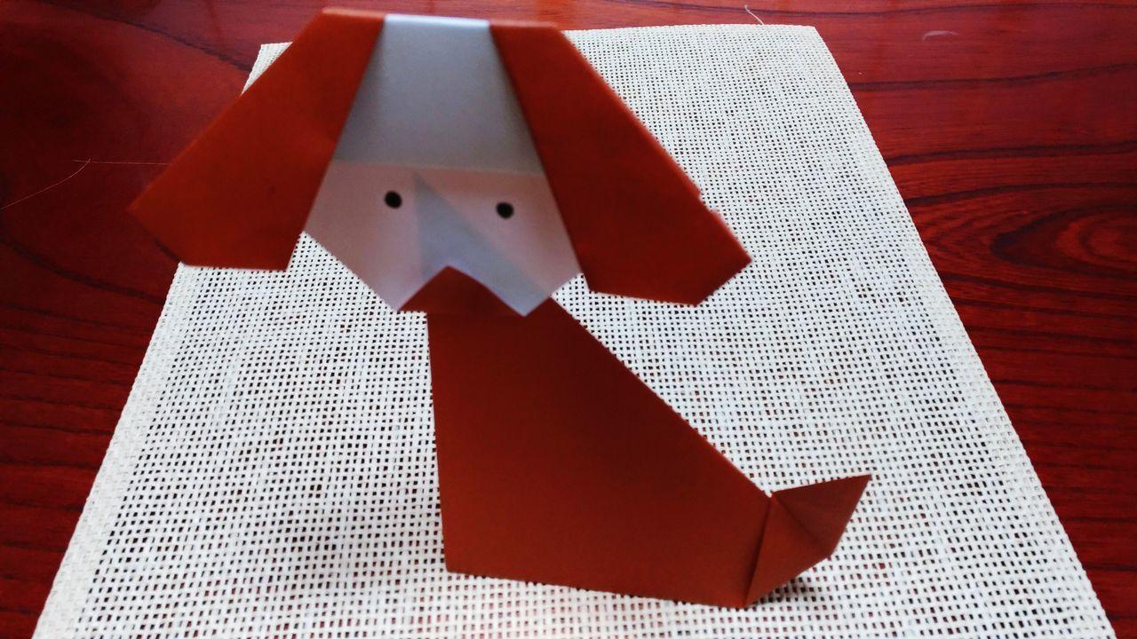 折り紙で犬を作ってみた。 Indoors  Origamiart Craft Paper Art Paper Papercraft Origami Art Origamicolors Origami Japanese Culture Japanese Traditional Paperwork Animal Animal Themes Dog Cute