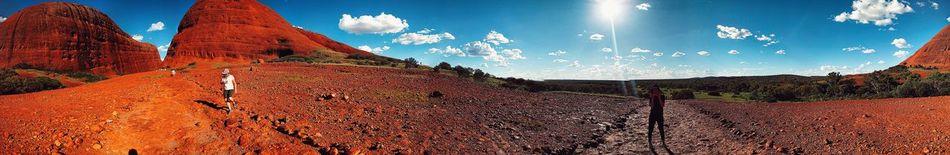 Nature Panoramic Photography Day Landscape Australia & Travel Panorama Australian Landscape Australia Kata Tjuta Outdoors Panaramic Sky Low Angle View No People Close-up Sport Nature IPhoneography 360° Panoramic Views 360° Pictures  360° 360 Panorama 360 Beauty In Nature