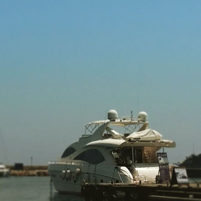 Yacht in Paphos Harbour. Yacht Boat Sea Water Sky Sunny Paphos Cyprus
