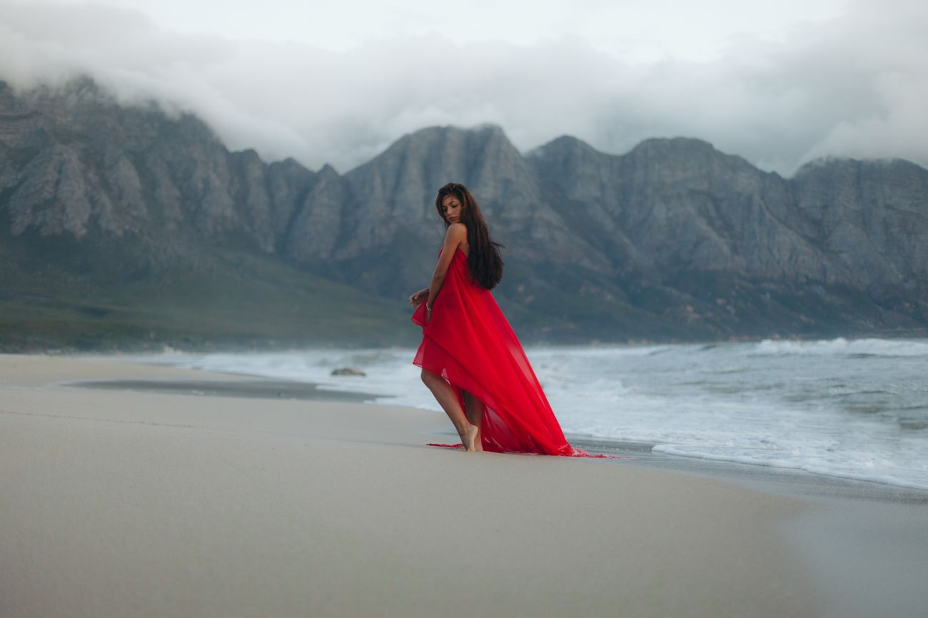 Full Length One Person Young Adult Nature Real People Red Young Women Fog Outdoors Scenics Landscape Standing Mountain Sky Women Portrait Beauty In Nature Day One Young Woman Only The Week On EyeEm Cape Town South Africa Beach Women Around The World EyeEmNewHere