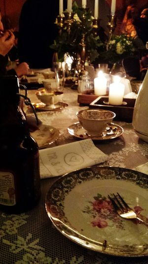 Wedding Party Candlelight Dekoration Wedding Cake was Delicious :)