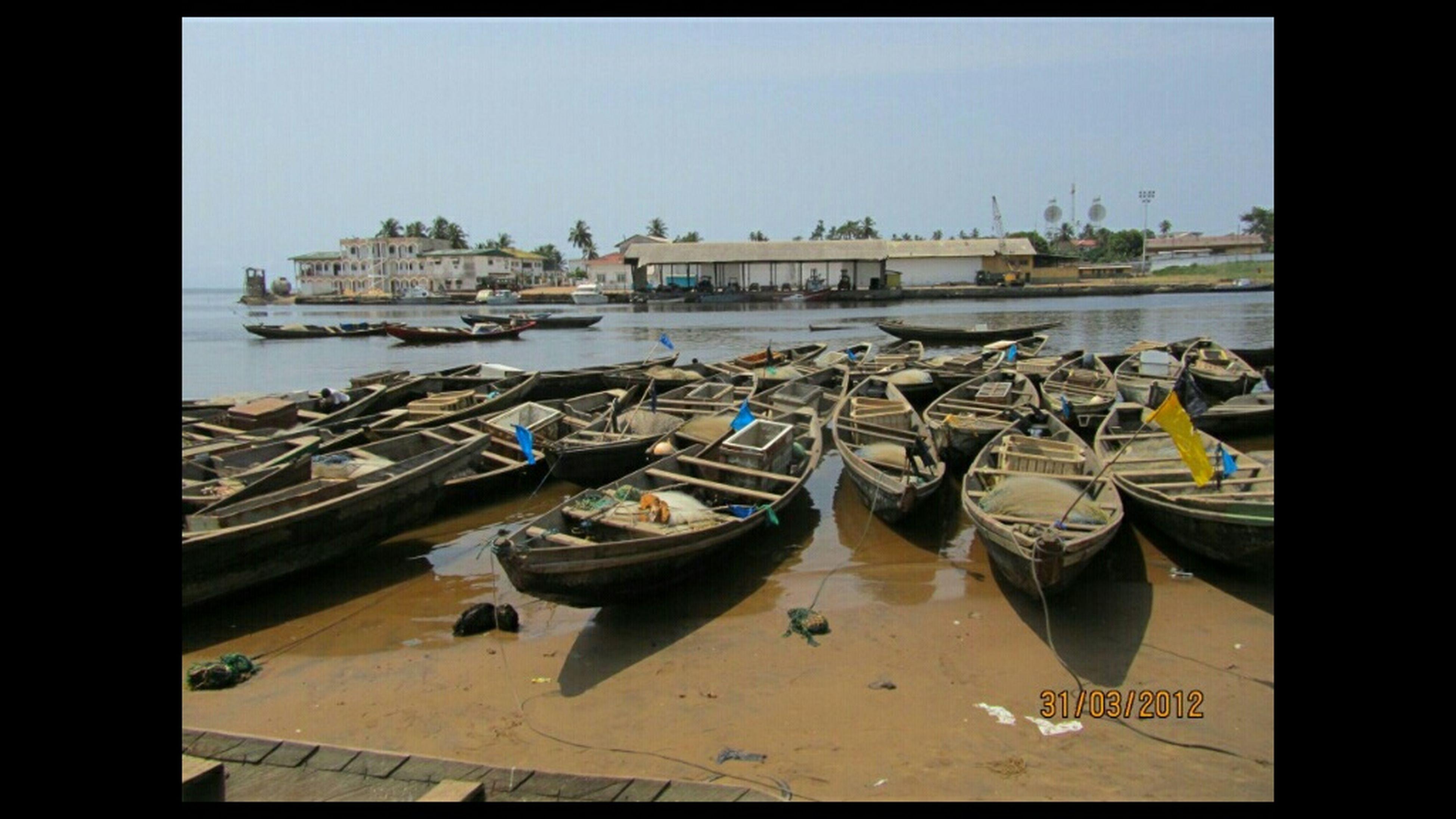 Fishing boats/Kribi Cameroon
