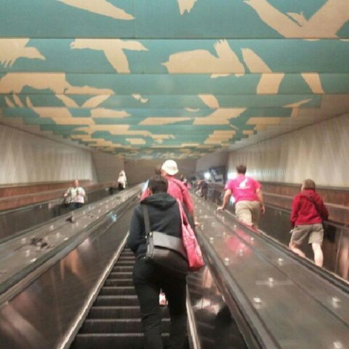 """Watched an episode of """"60 Minutes"""" while on the escalator. >.<"""