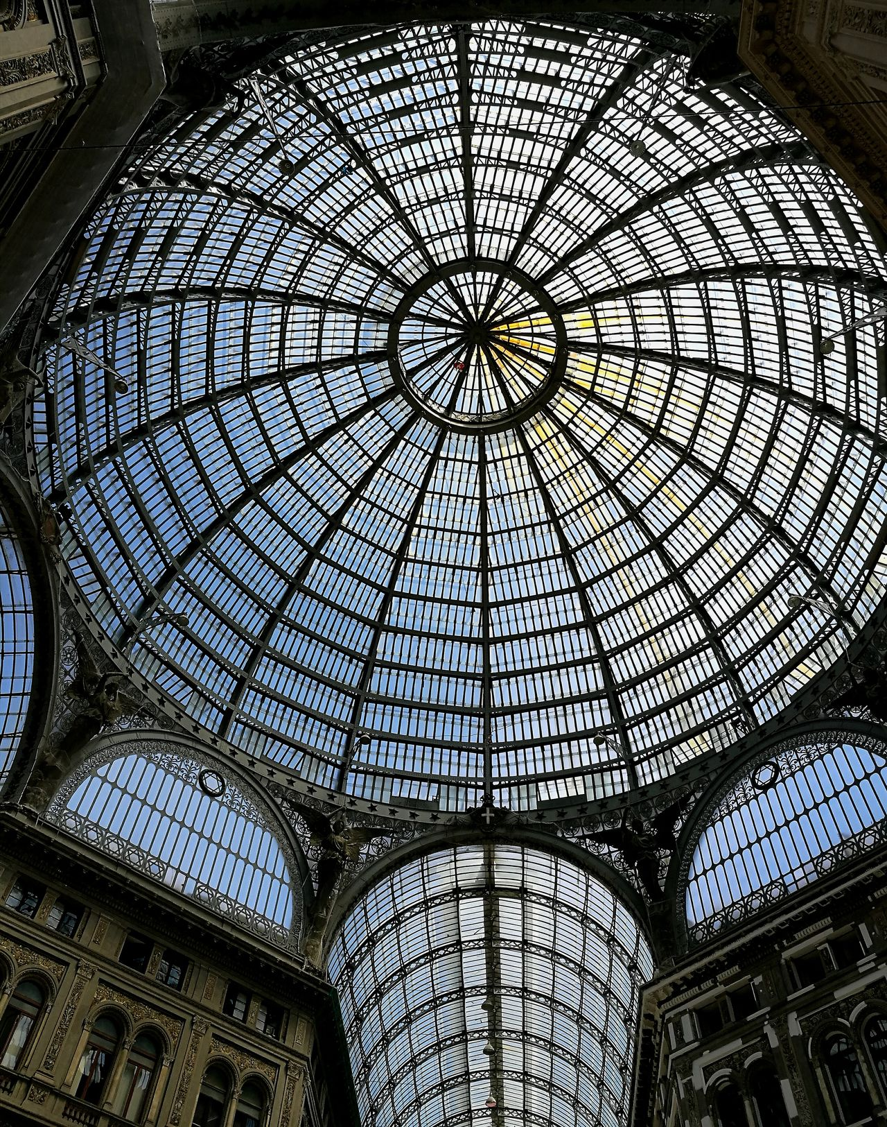 Naples gallery Indoors  Built Structure Architecture Dome Naples, Italy Napoli Naples Travel Destinations
