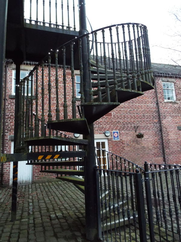 Spiral staircase in Haigh Hall stables complex Haigh Hall Wigan United Kingdom Spiral Staircase