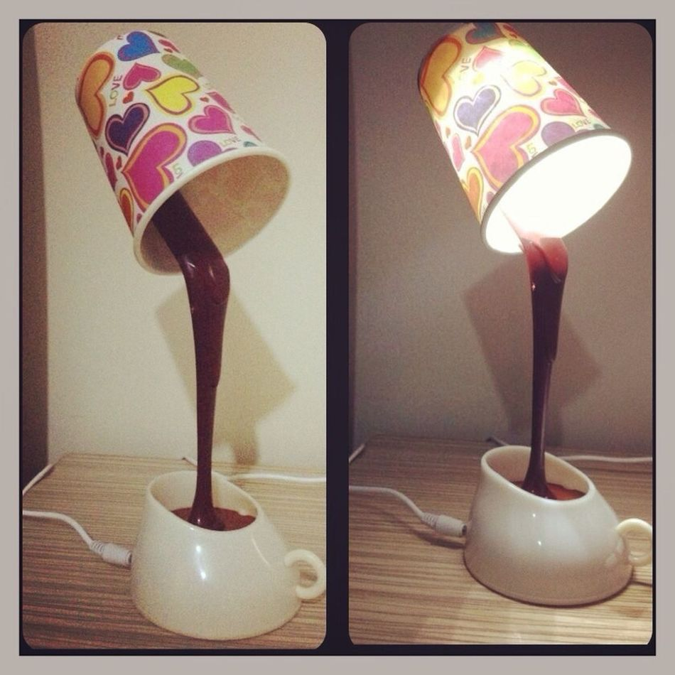 Sıcak çikolata Eşliginde Masa Lambam :)