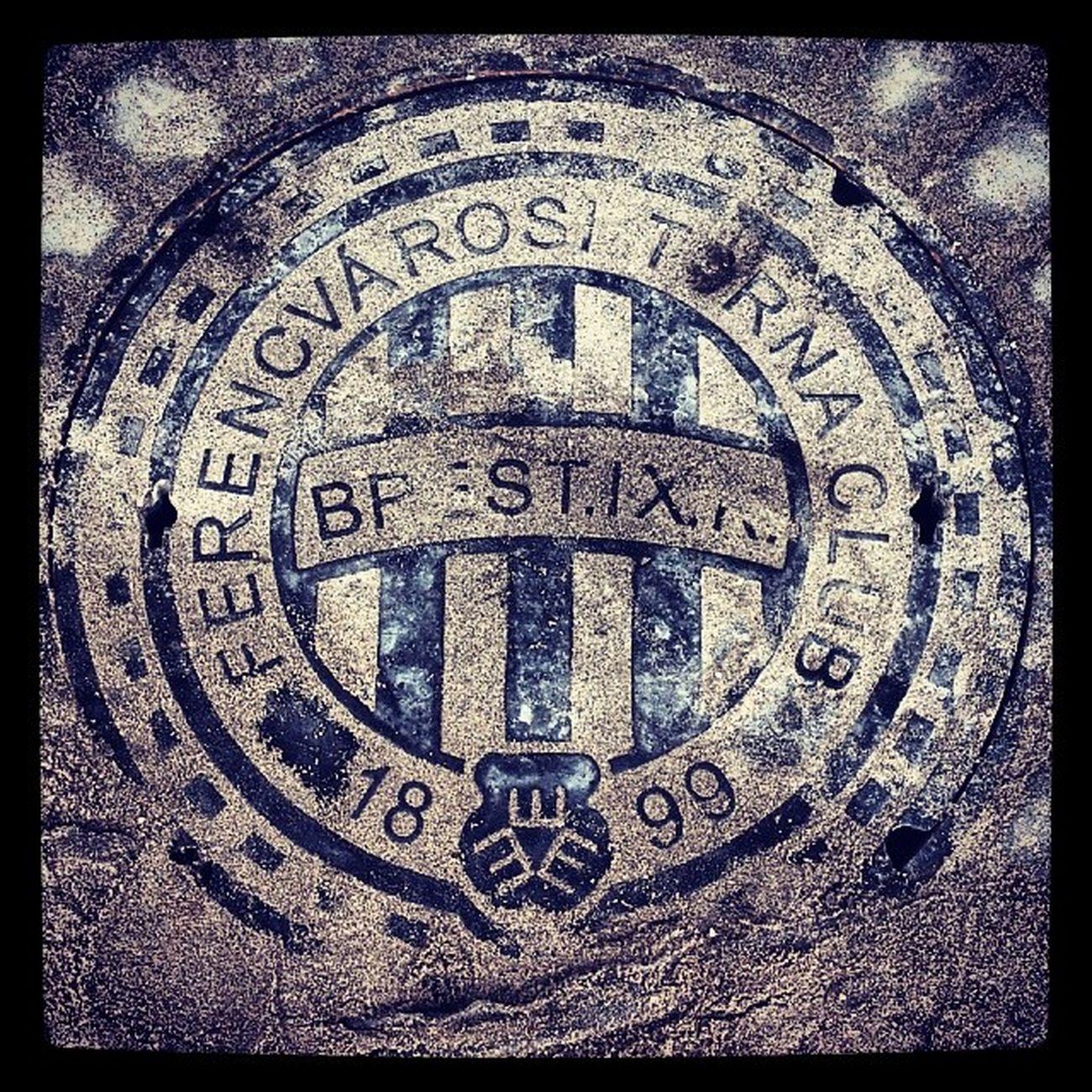 Csatornafedő az új stadionban Fradicimer FTC  Ferencváros Fradi 1899