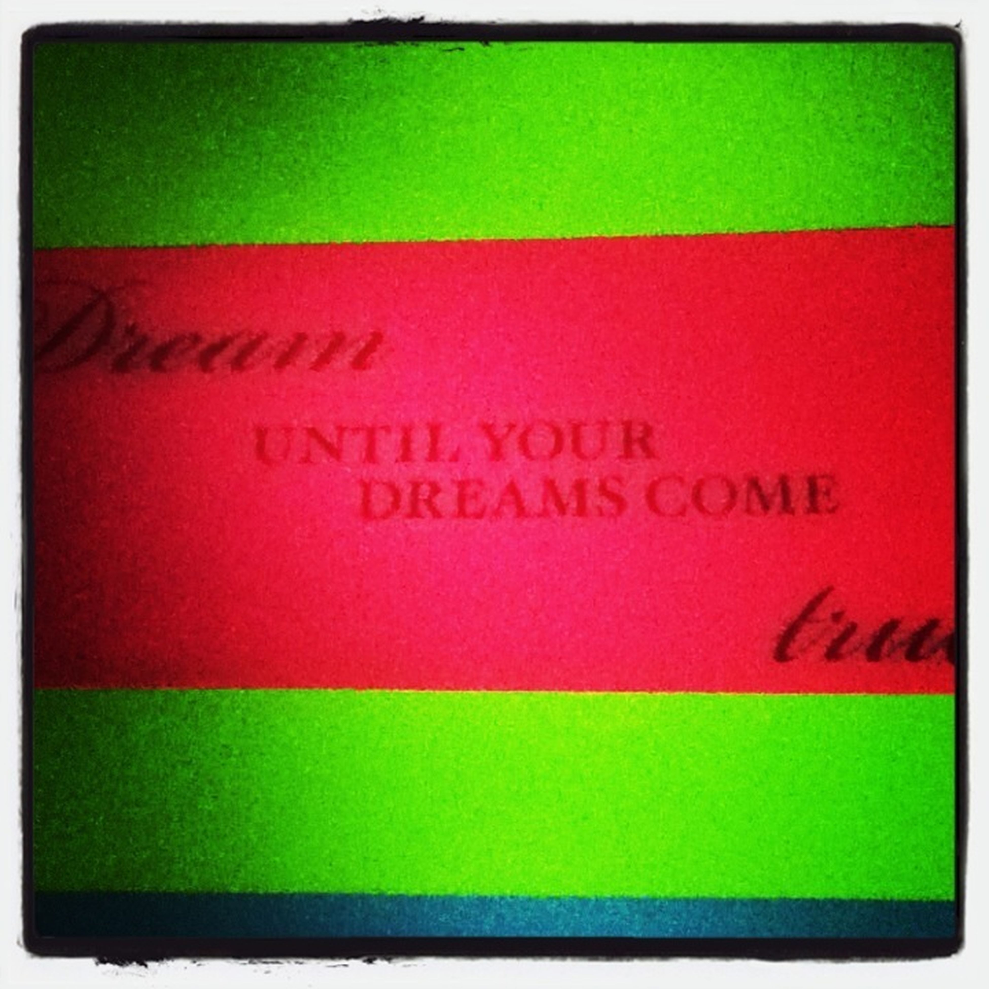 Dream Until Your Dreams Come True.