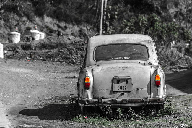 Non-urban Scene Old-fashioned Focus On Foreground Outdoors Car CarShow Old Cars Old Car Nostalgic  Nostalgia Gone With The Wind Yesteryear  Battered Wallart Tourism India Inspired Ambassador Rustic Rusty Car Rusty Autos Jewel Vintage Cars Vintage Vintage Car
