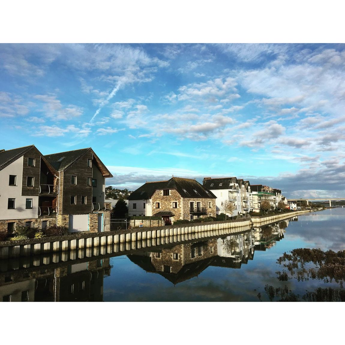 Architecture Built Structure Sky Building Exterior Water Waterfront Reflection No People Outdoors Beauty In Nature Day Nature Tree Cornwall Wadebridge Beautiful Tranquil Scene Travel Destinations Tranquility Cloud Cloud - Sky Amazing Solitude