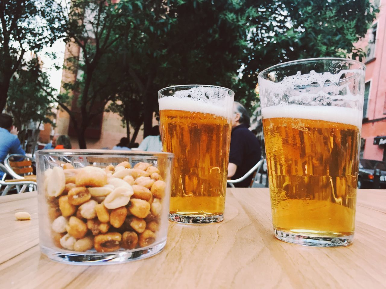 Beer Glass Food And Drink Beer - Alcohol Drink Table Refreshment Alcohol Frothy Drink Tree Drinking Glass Freshness Outdoors Beer Day Food No People Healthy Eating Close-up