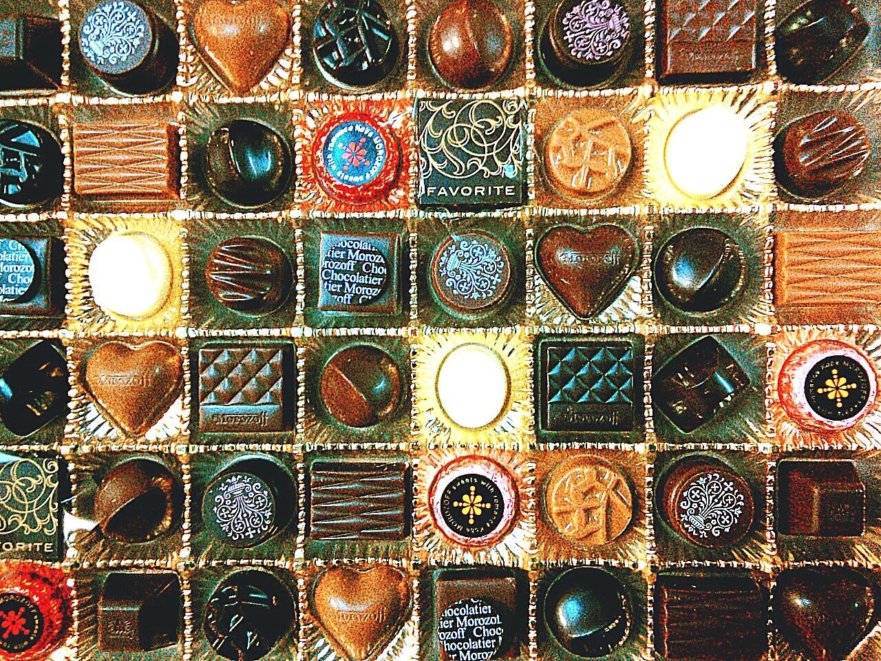No People Full Frame Multi Colored Close-up Chocolates Cacao Food Sweets Sweet Food Brown White Tasty Yummy EyeEmNewHere EyeEmNewHere