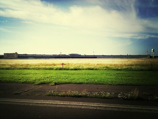 Great view at maerchenwald Flughafen Tempelhof by Jules Lauret