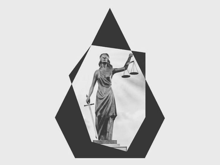 LADY JUSTICE Pinkdot Montréal Lady Truth Art Picture Famous Logo