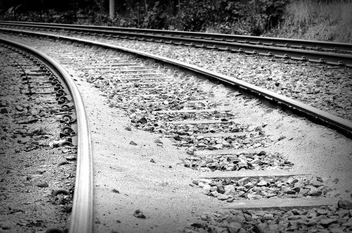 Tracks. Day Monochrome No People Outdoors Rail Transportation Railroad Track Railroad Track Railway Track Tracks Transportation Welcome To Black