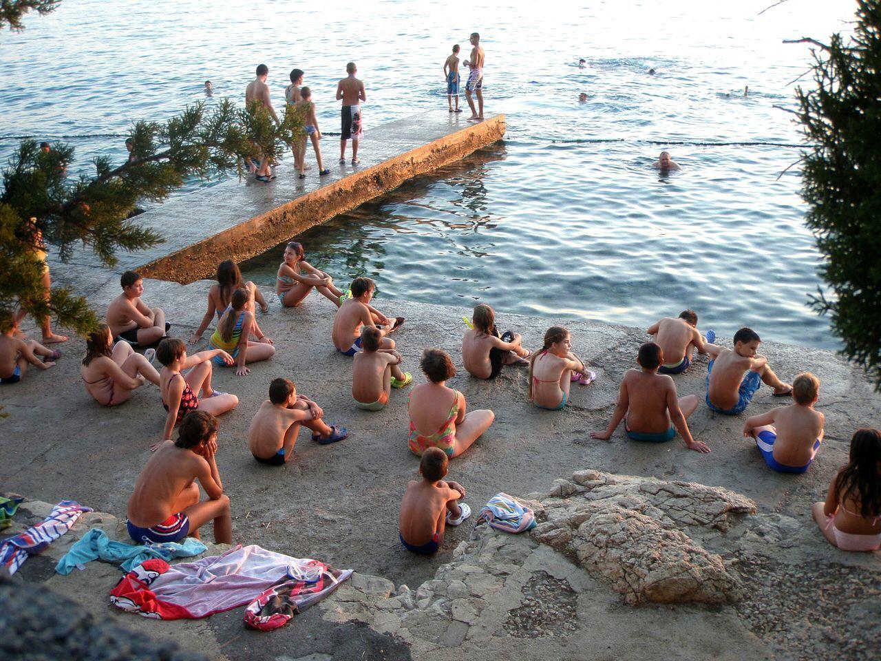 Collected Community Crikvenica Croatia Children Teaching Education On The Beach Gyerekek A Bird's Eye View