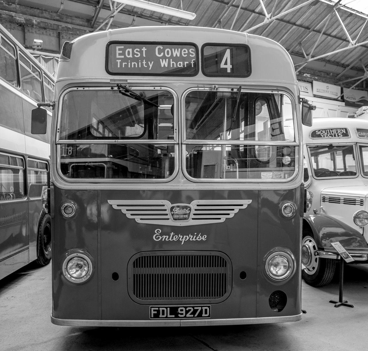 Bristol MW, Ryde bus garage, Ryde, Isle of Wight Monochrome Isle Of Wight  Black And White Ryde Bus Garage Bus Depot Bus Bristol MW