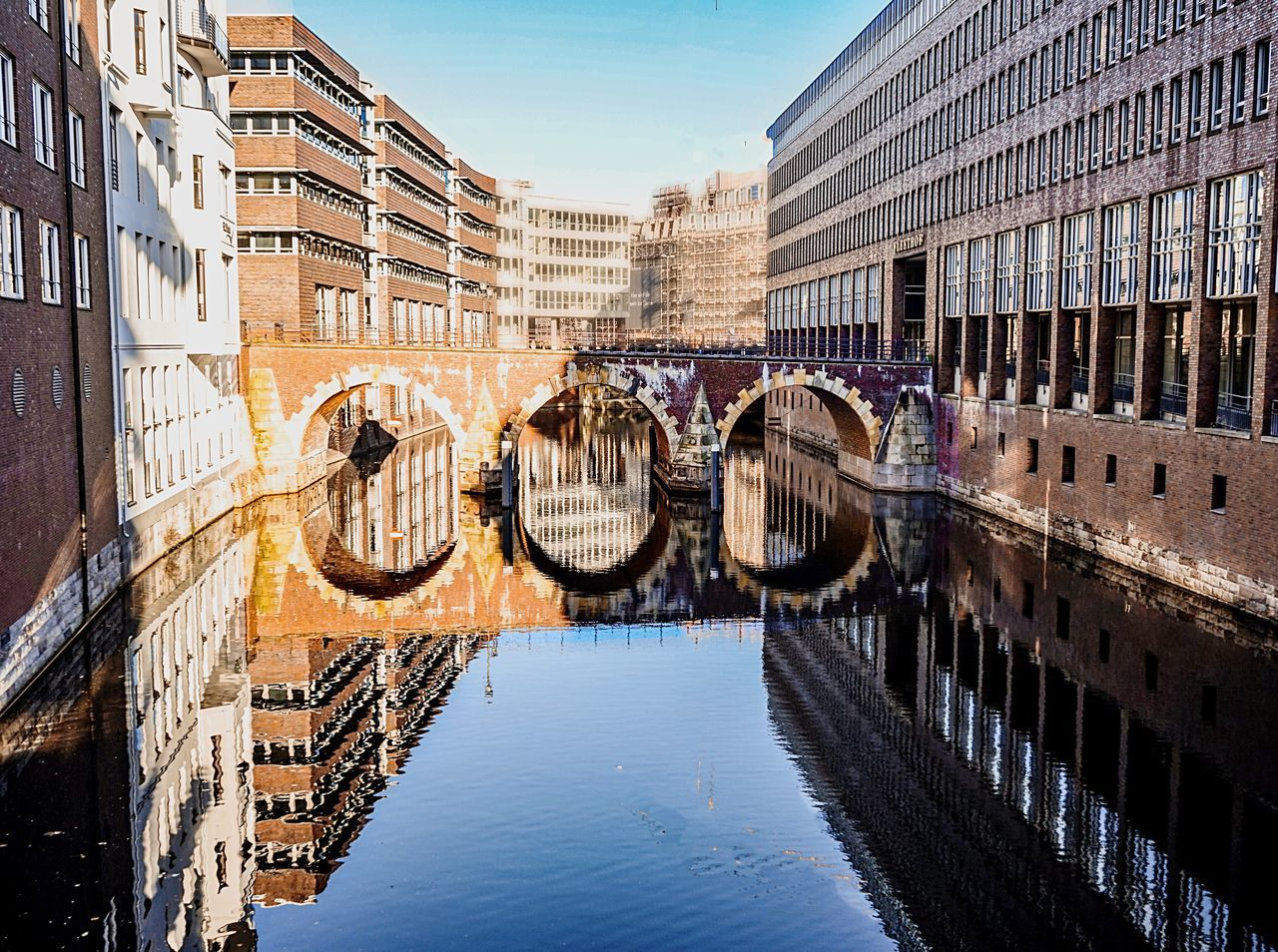 Reflection Architecture Water Building Exterior Built Structure Canal Outdoors City No People Day Bridge - Man Made Structure Sky Hydroelectric Power Fleet Canals Nature City Rural Scene