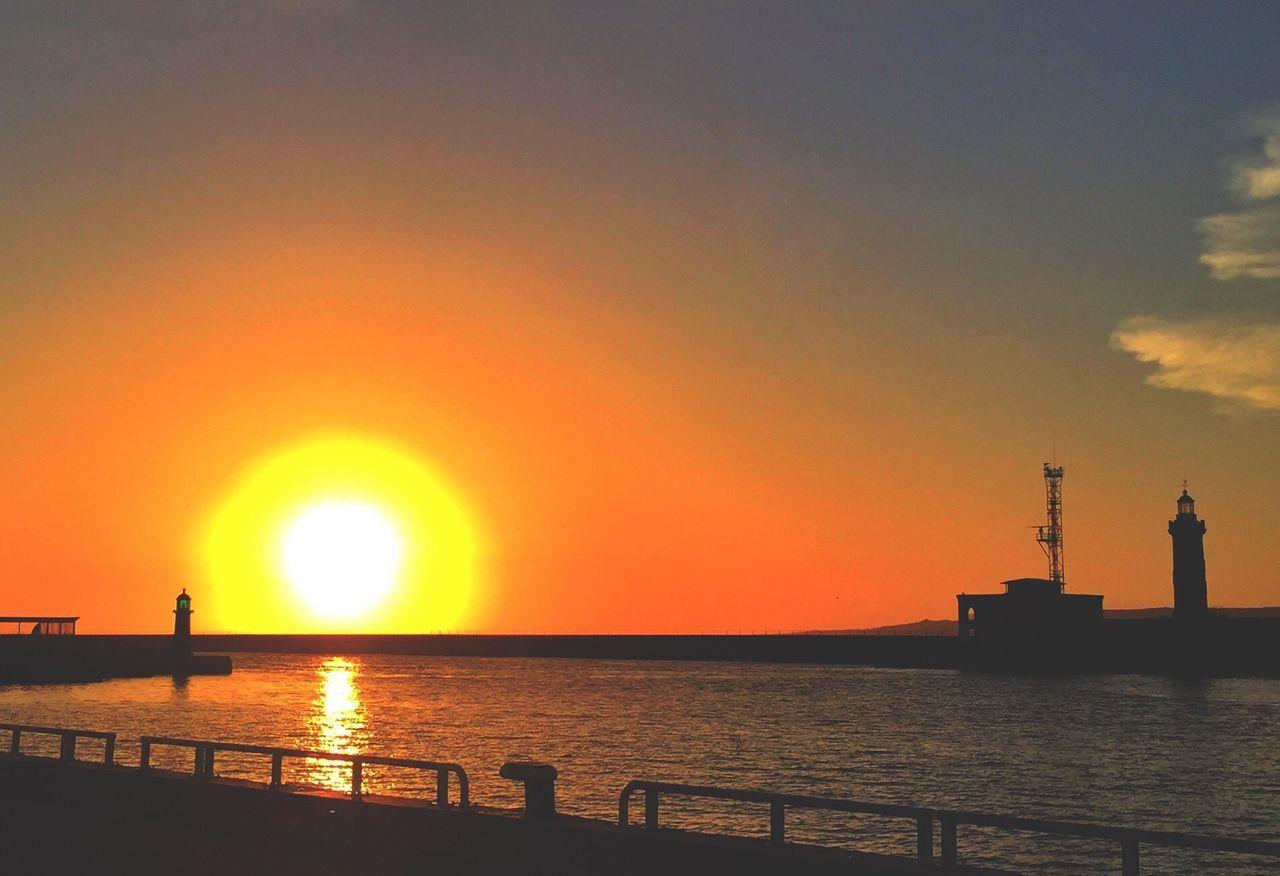 Sunset Beauty In Nature Nature Sea Sun Scenics Idyllic Sunset_collection Sunsetlover