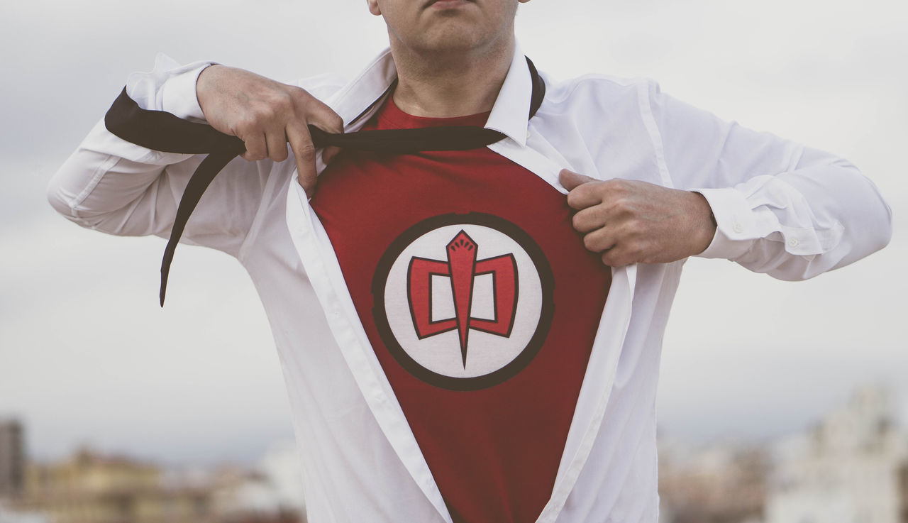 Believe it or not... Superhero One Person Red Red Color Close-up Break The Mold