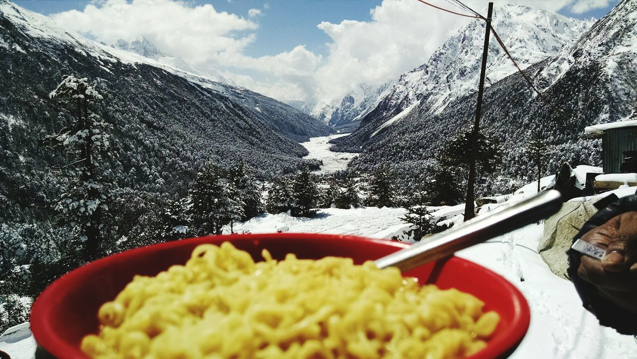 Sikkim Zero Point Maggi Majestic Himalayas Mountains And Valleys Amazing View Eye Em A Traveller