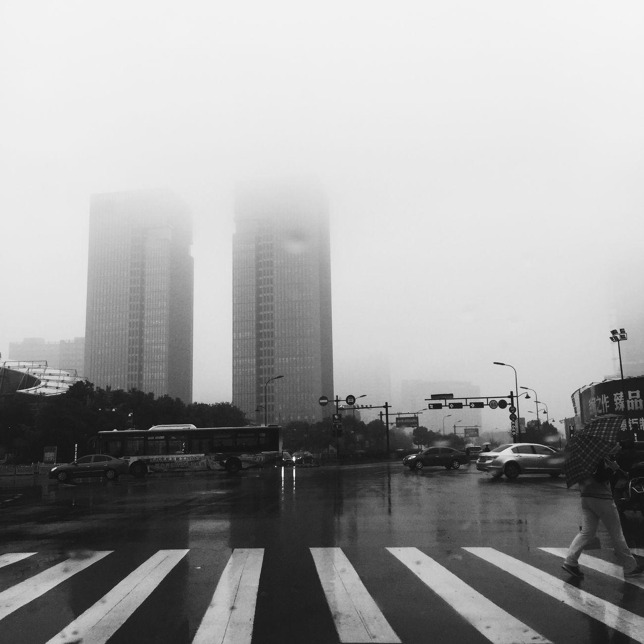 Rainy Days Crossroads Buildings
