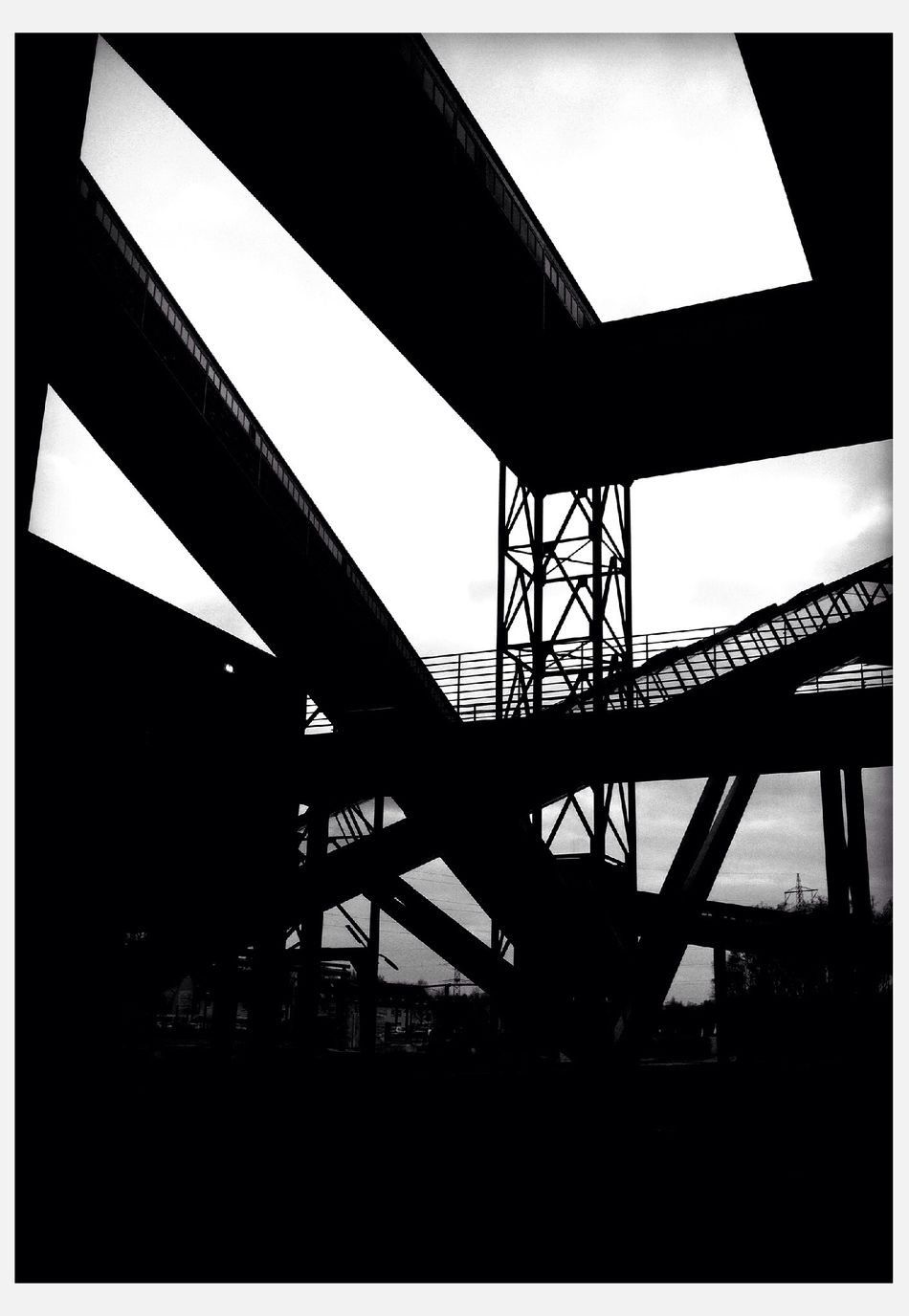 at Ruhr Museum Essen Modern Architecture Architecture Historical Building Industrial Black And White Light And Shadow