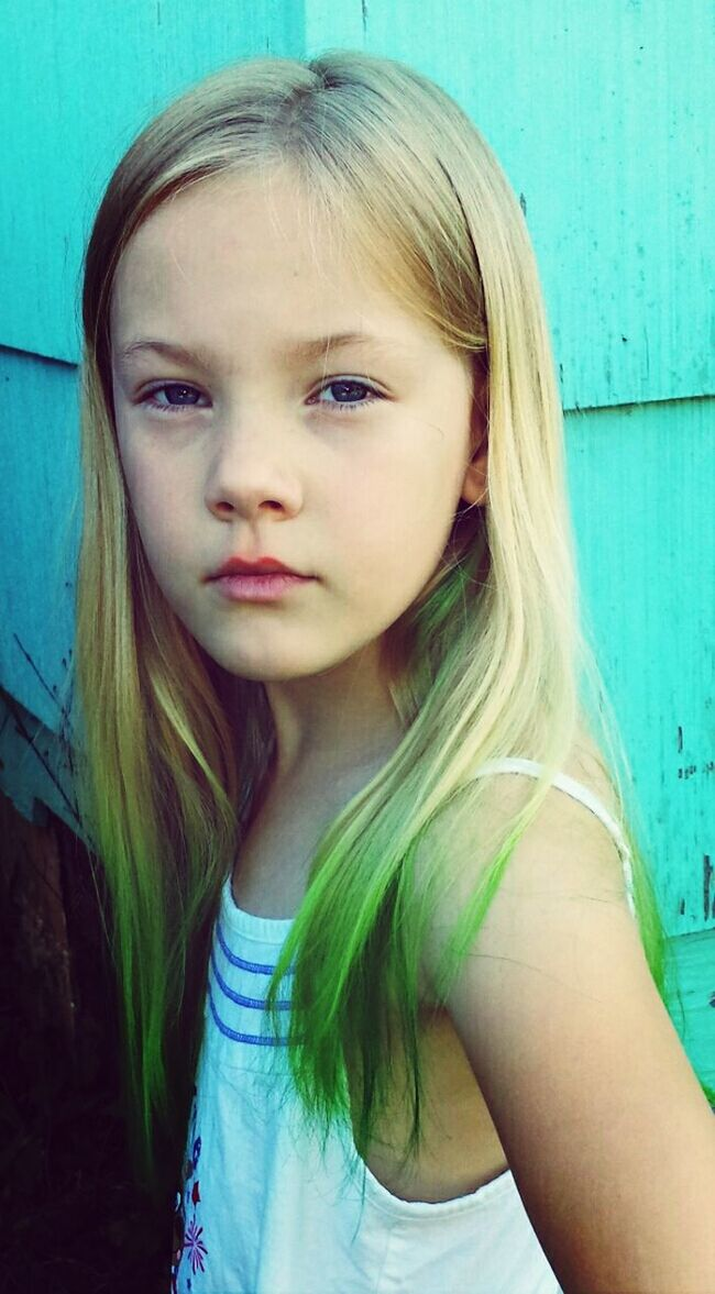 Dipped dyed my daughters hair. .. First time she colored so we used kool aid Hair Dye Dip Dye  Dip Dye Hair Kool-Aid