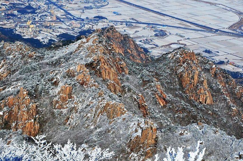 Wolchulsan National Park In Korea Winterwonderland Snow Photography On The Mountain Snow❄sky Nature Photography Wintertraining Last Winter Snowwhite In Korea